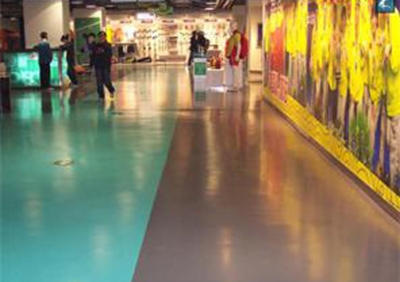 商场彩色水泥自流平工程案例