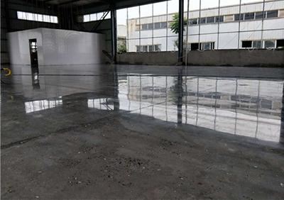 乐山水泥密封固化剂地坪施工中